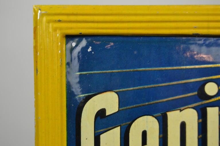 1920s Belgian Genever Tin Advertising Sign 9