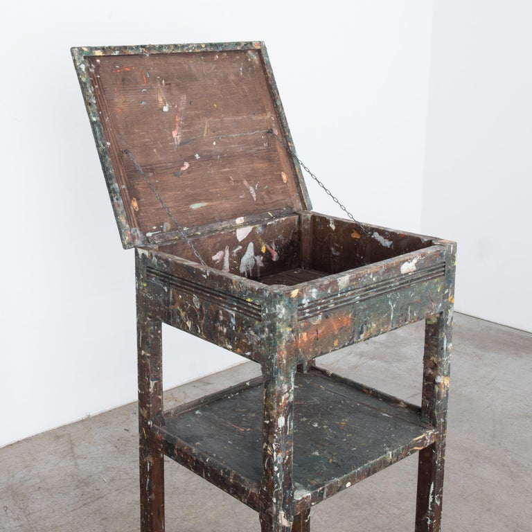 Early 20th Century 1920s Belgian Painter's Table