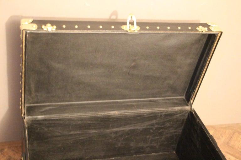 1920s Black Louis Vuitton Motoring Trunk For Sale 8