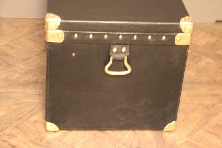 French 1920s Black Louis Vuitton Motoring Trunk For Sale