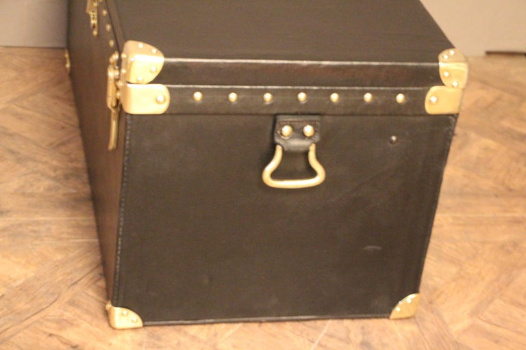 Early 20th Century 1920s Black Louis Vuitton Motoring Trunk For Sale