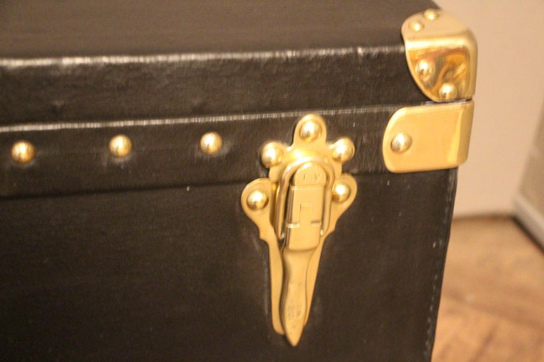1920s Black Louis Vuitton Motoring Trunk For Sale 1