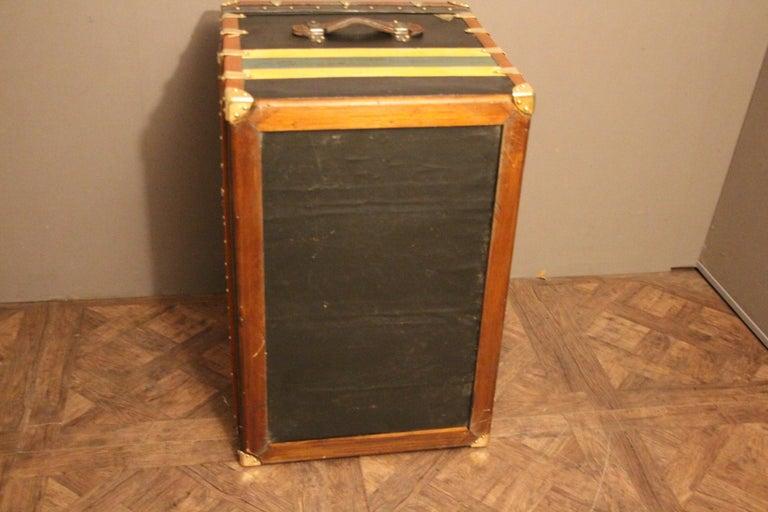 1920s Black Moynat Steamer Trunk For Sale 4