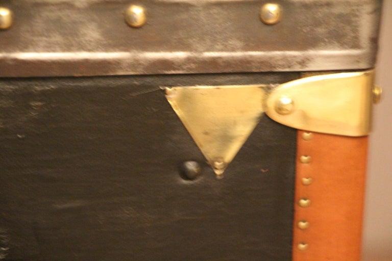 1920s Black Moynat Steamer Trunk For Sale 5