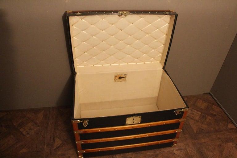 1920s Black Moynat Steamer Trunk For Sale 6