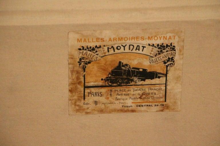 1920s Black Moynat Steamer Trunk For Sale 7
