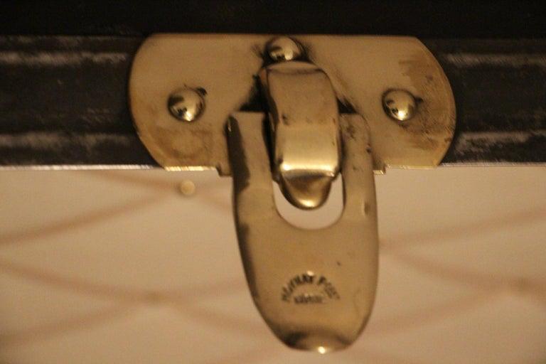 1920s Black Moynat Steamer Trunk For Sale 9
