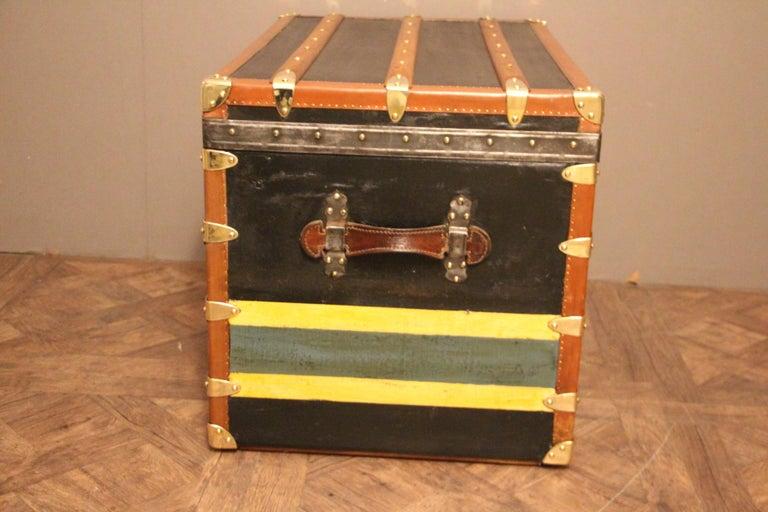 1920s Black Moynat Steamer Trunk For Sale 1