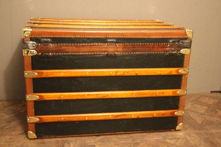 1920s Black Moynat Steamer Trunk For Sale 2