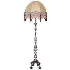 1920s Brass Standard Lamp