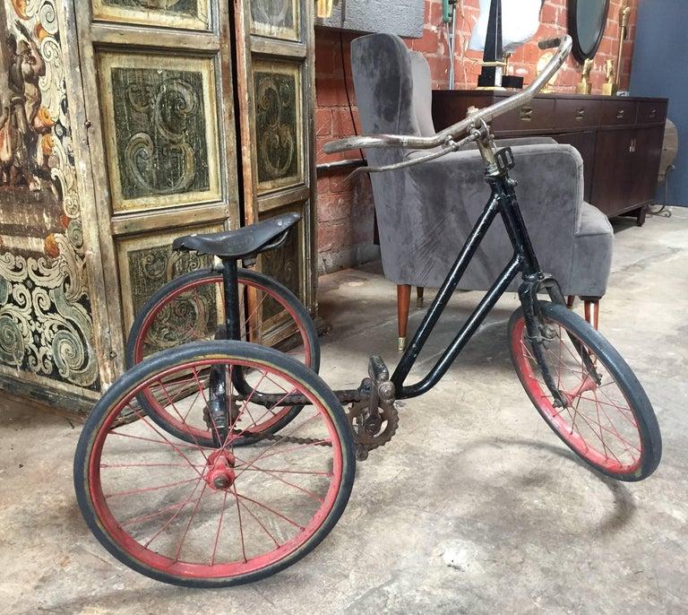 Belle Époque 1920s British Dunlop Tricycle Bike For Sale