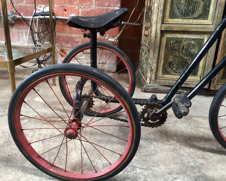 Leather 1920s British Dunlop Tricycle Bike For Sale