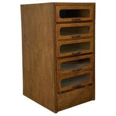1920s British Oak Haberdashery Cabinet