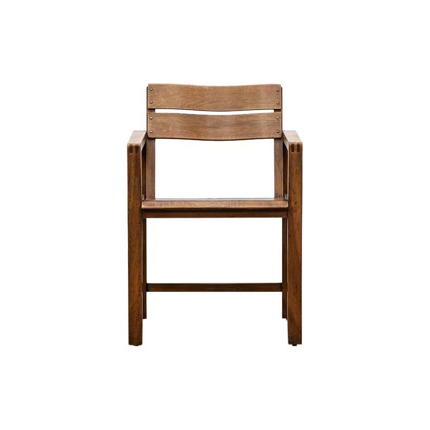 1920s Brown Beech Single Chair by Erich Dieckmann 'C'