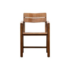 1920s Brown Beech Single Chair by Erich Dieckmann 'd'