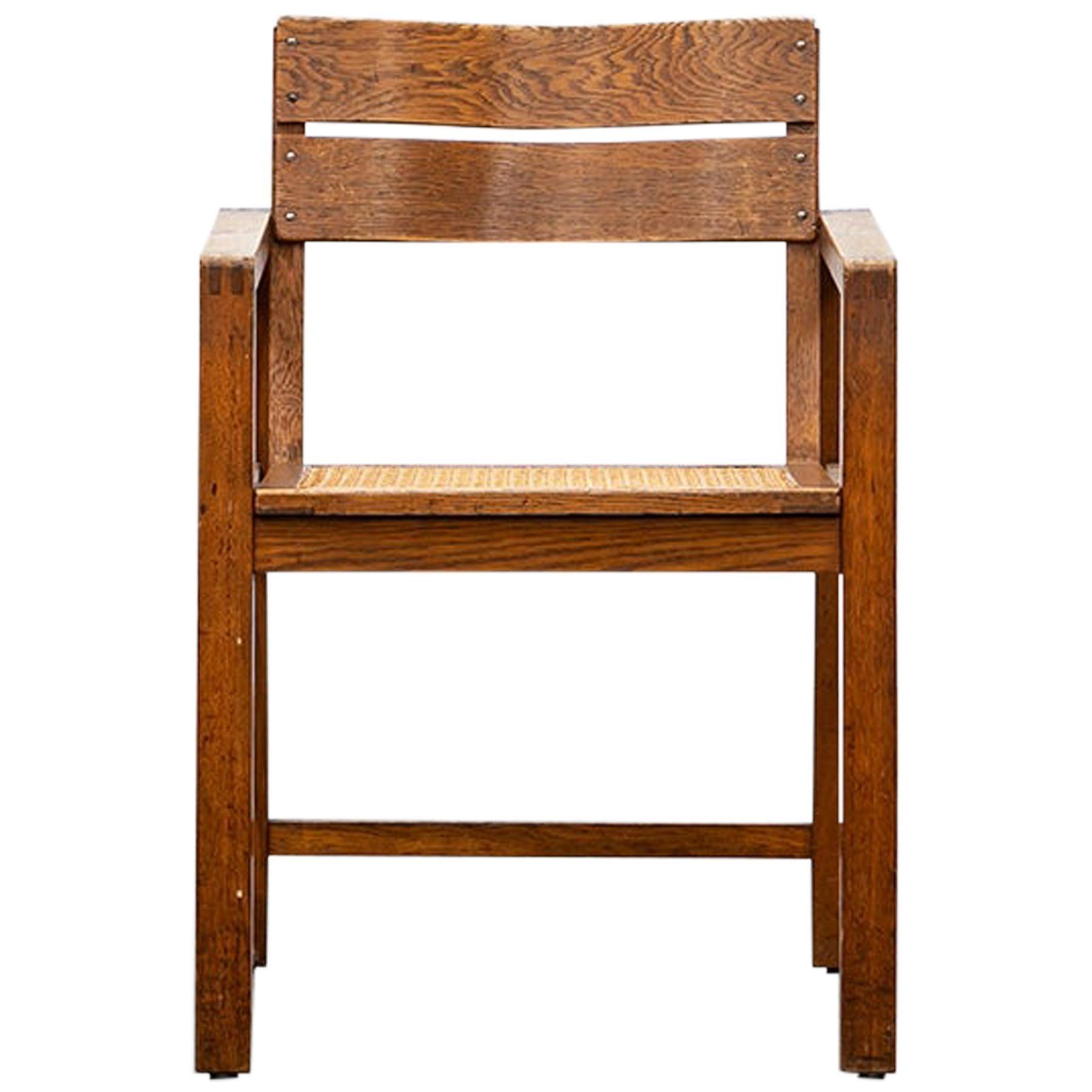 1920s Brown Beech Single Chair by Erich Dieckmann 'f'