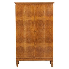 1920s Brown Wood and Radica Wardrobe by Gio Ponti