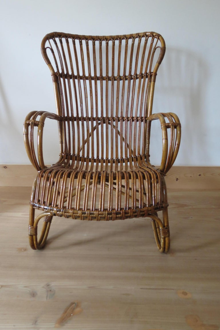 Amazing 1920S Cane And Bamboo Lounge Chair Ocoug Best Dining Table And Chair Ideas Images Ocougorg