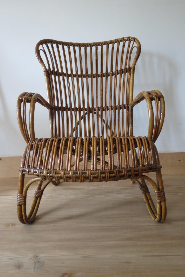 Prime 1920S Cane And Bamboo Lounge Chair Ocoug Best Dining Table And Chair Ideas Images Ocougorg