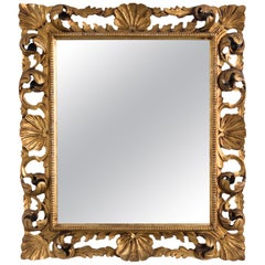1920s Carved Gilded Mirror
