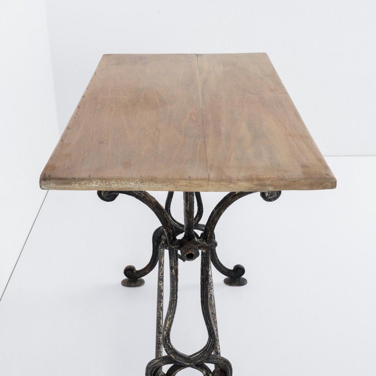 1920s Cast Iron French Bistro Table For Sale 5
