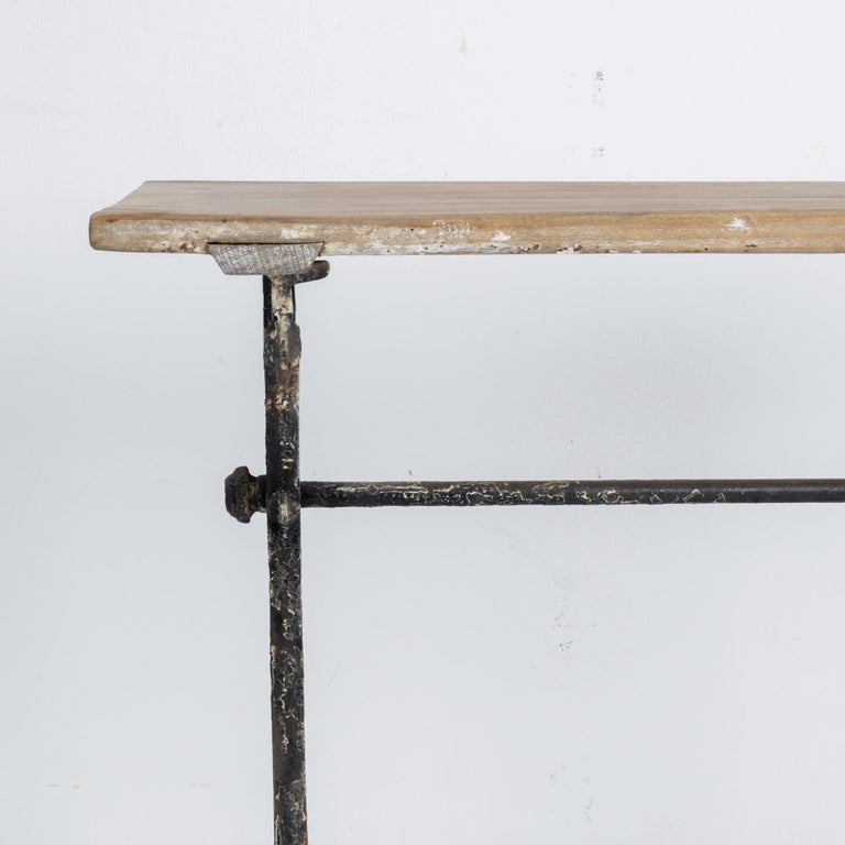 1920s Cast Iron French Bistro Table For Sale 1