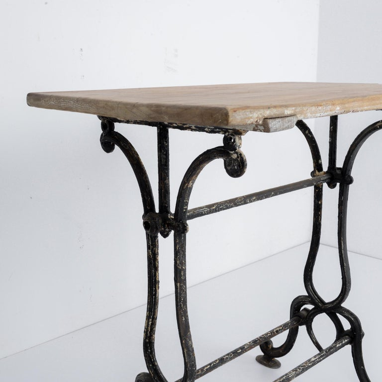 1920s Cast Iron French Bistro Table For Sale 2