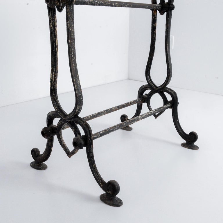 1920s Cast Iron French Bistro Table For Sale 4