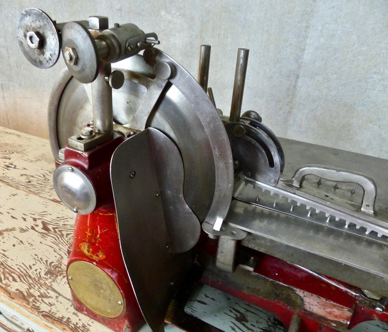 1920s Cast Iron Hand Crank Meat Slicer For Sale 1