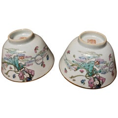 1920s Chinese Export Hand Painted Ceramic Bowls