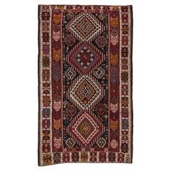 1920s Colorful Turkish Kilim Rug