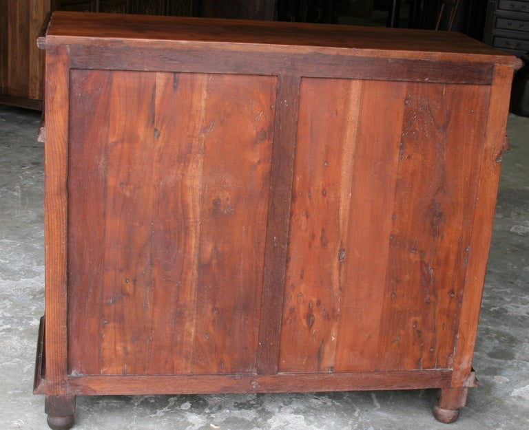 1920s Custom Made Solid Teak Wood Elegant Vanity from a French Colonial Home For Sale 1