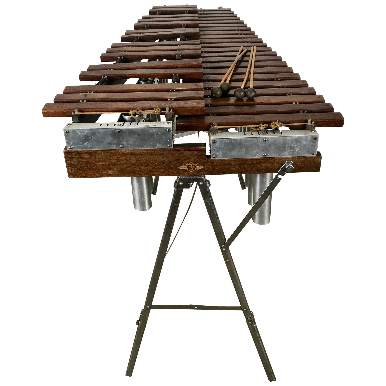 1920s Deagan 725 Marimba Model B, Rosewood Keys, 3.5 Octave