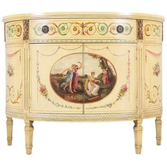 1920s English Neoclassical Painted Console