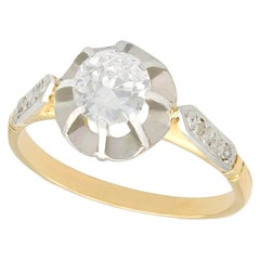 1920s Diamond and Yellow Gold Solitaire Engagement Ring