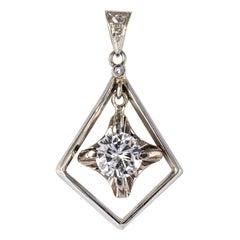 1920s Art Deco Diamond Lozenge Pendant