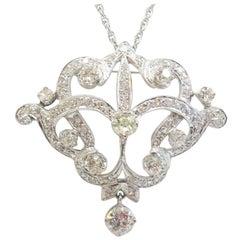 1920s Diamond Pin or Pendant