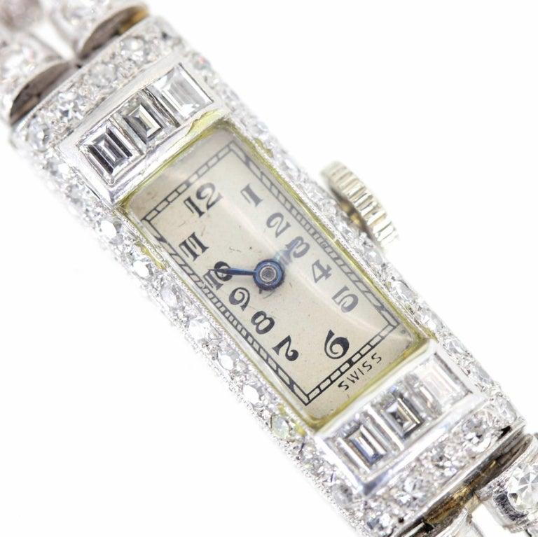 Art Deco 1920s Diamond Platinum Ladies Watch