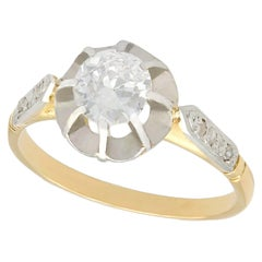 1920s Diamond Yellow Gold Solitaire Engagement Ring