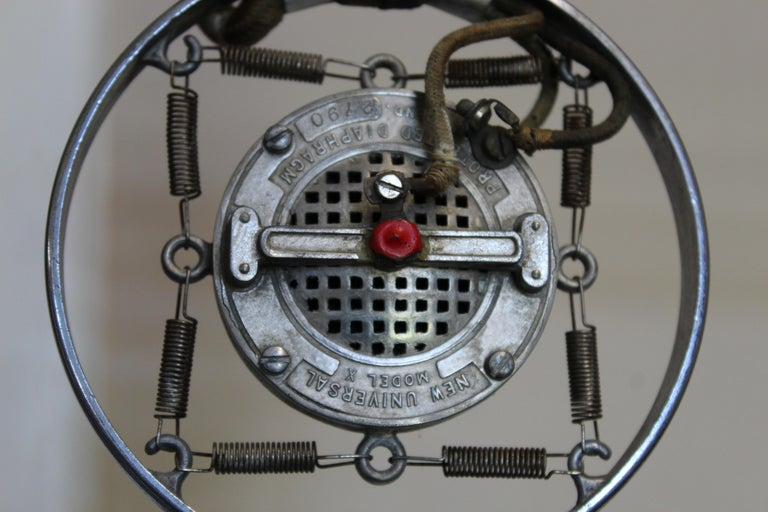 1920s Double Button Carbon Ring Microphone For Sale 2