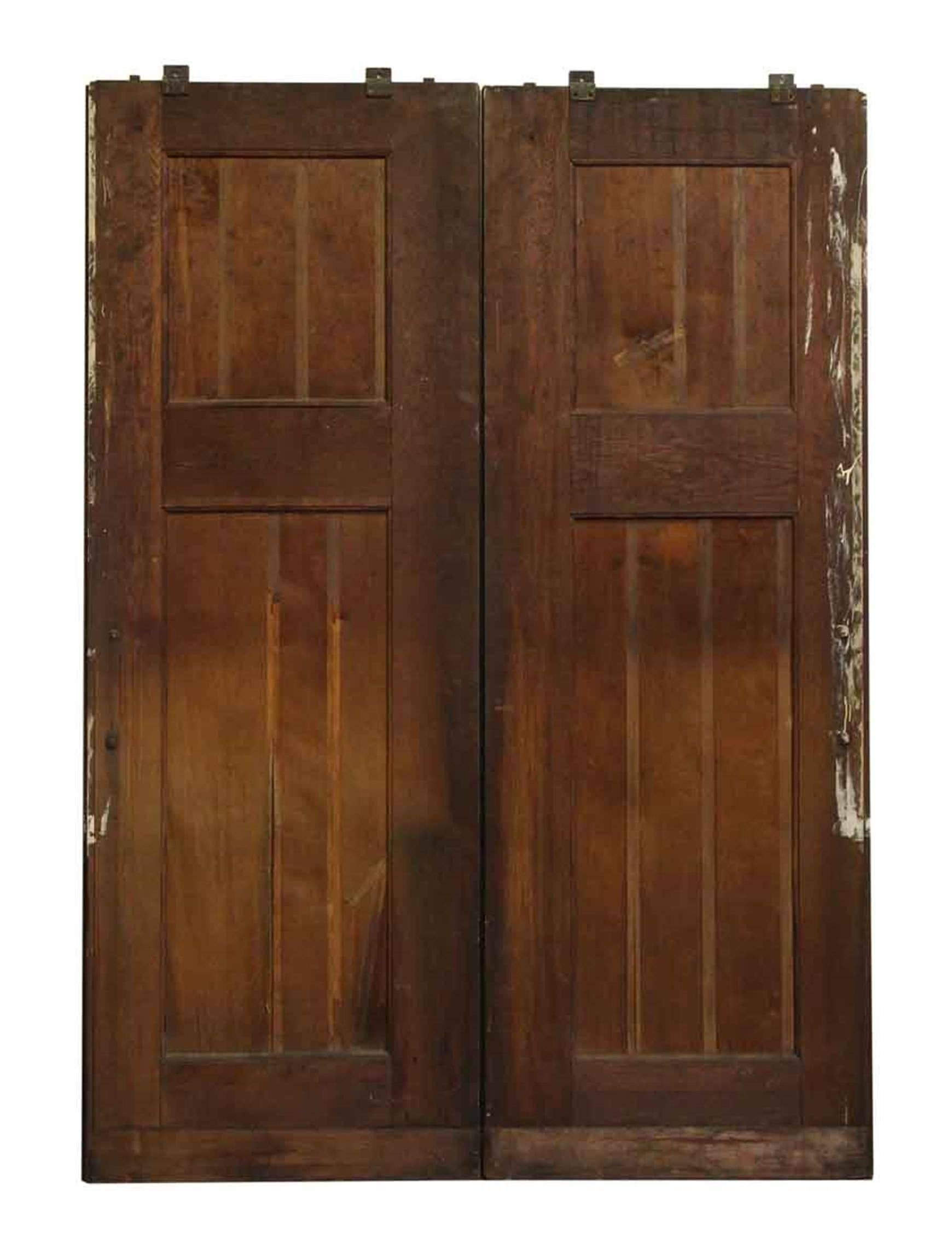 1920s Double Quarter Sawn Oak Doors From A Jewish Synagogue And Original Hardwar For At 1stdibs
