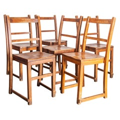 1920s Elm Chapel/Church Stacking Dining Chairs, Set of Six, Other Quantities