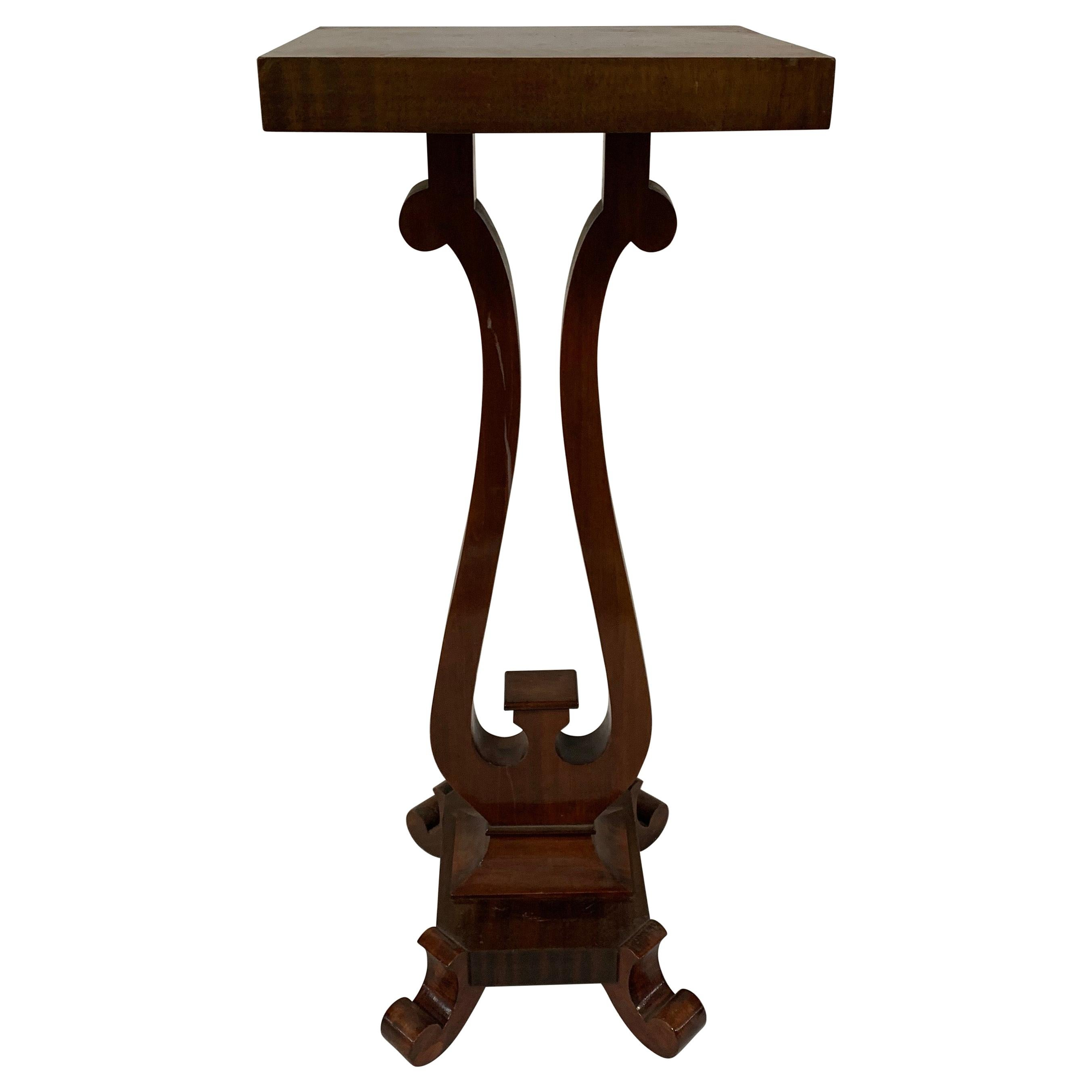 1920s Empire Revival Mahogany Pedestal