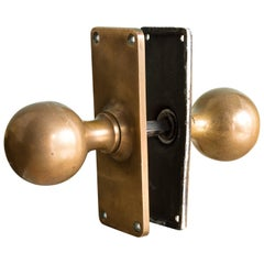 1920s English Brass Door Knobs