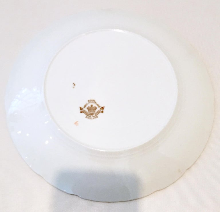 1920s English Ironstone Dinner Plates by Johnson Brothers Set of 8 For Sale 5