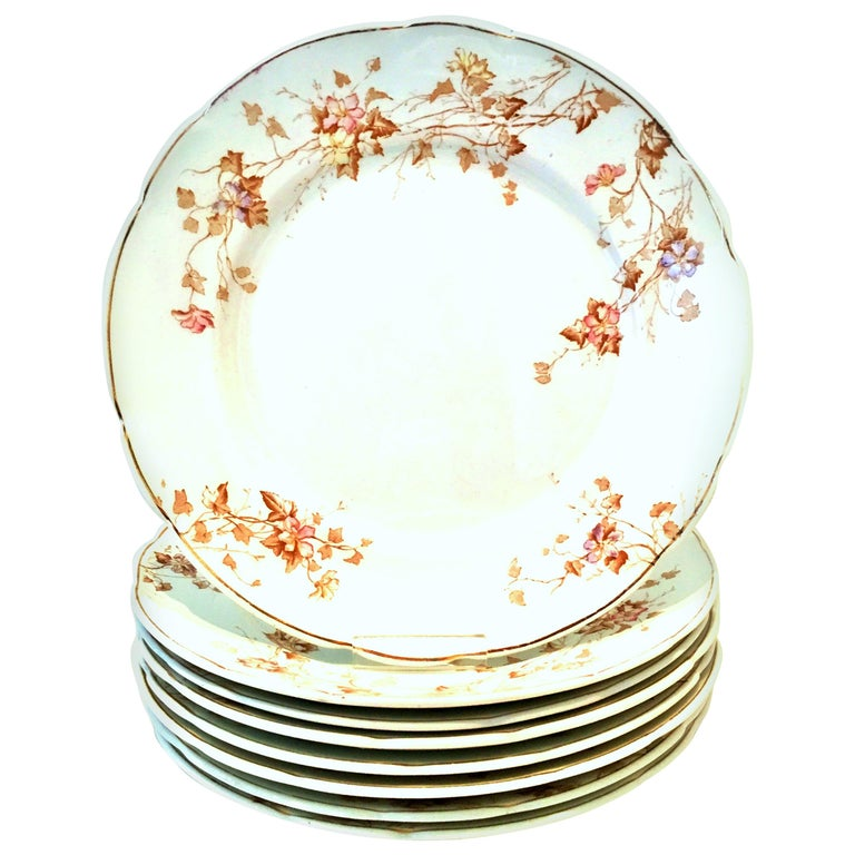 1920s English Ironstone Dinner Plates by Johnson Brothers Set of 8 For Sale