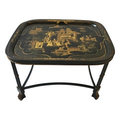 1920s English Tray Table With Asian Motif