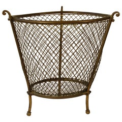 1920s English Wastepaper Basket