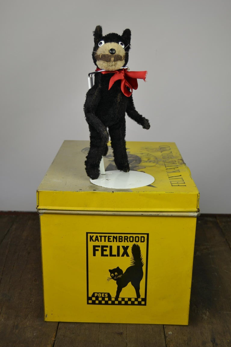 1920s Felix the Cat , Stuffed Mohair Children's Toy For Sale 13