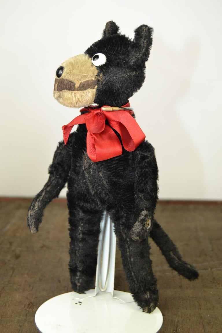 Early 20th Century 1920s Felix the Cat , Stuffed Mohair Children's Toy For Sale
